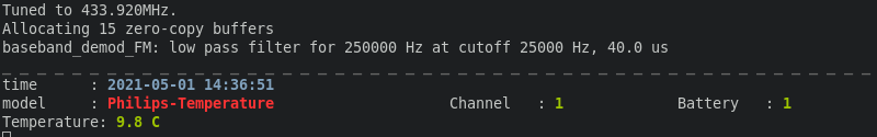 rtl433 successful decode
